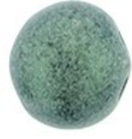 10 GM 7mm Cabochon : Metallic Suede Light Green (APX 25 PCS)