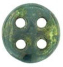10 GM 6mm QuadraLentil : Persian Turquoise Bronze Picasso (APX 90 PCS)