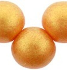 25 PC 6mm Top Hole Round : Sueded Gold Lame Hyacinth