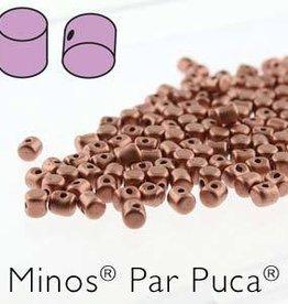 10 GM 2.5x3mm Minos Par Puca : Copper Gold Matte (APX 200 PCS)