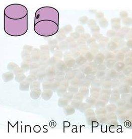 10 GM 2.5x3mm Minos Par Puca : Opaque White (APX 200 PCS)