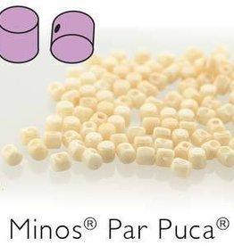 10 GM 2.5x3mm Minos Par Puca : Opaque Beige Luster (APX 200 PCS)