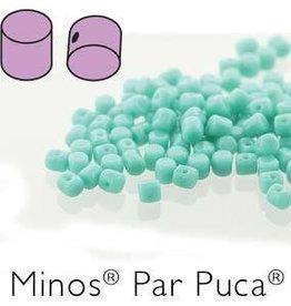 10 GM 2.5x3mm Minos Par Puca : Opaque Green Turquoise (APX 200 PCS)