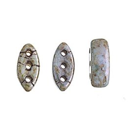 50 PC 2x8mm Cali® 3 Hole Bead : Patina