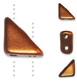 10 GM 8x6mm Tango™ 2 Hole Bead : Matte Copper (APX 65 PCS)