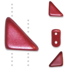 10 GM 8x6mm Tango™ 2 Hole Bead : Pastel Dark Coral (APX 65 PCS)