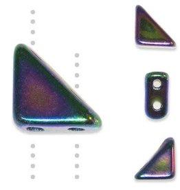 10 GM 8x6mm Tango™ 2 Hole Bead : Purple Iris (APX 65 PCS)