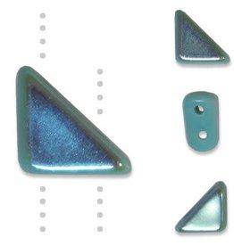 10 GM 8x6mm Tango™ 2 Hole Bead : Turquoise AB (APX 65 PCS)