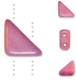 10 GM 8x6mm Tango™ 2 Hole Bead : Chalk Light Rose (APX 65 PCS)