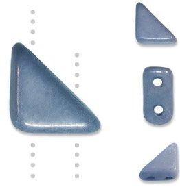 10 GM 8x6mm Tango™ 2 Hole Bead : Chalk Lumi Blue (APX 65 PCS)