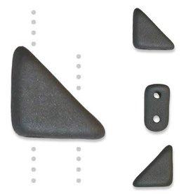 10 GM 8x6mm Tango™ 2 Hole Bead : Concrete Grey (APX 65 PCS)
