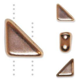 5 GM 8x6mm Tango™ 2 Hole Bead : Copper Full Coat (APX 33 PCS)