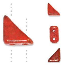 10 GM 8x6mm Tango™ 2 Hole Bead : Coral Lumi Pecan (APX 65 PCS)
