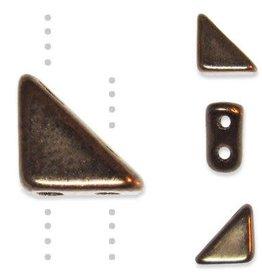 10 GM 8x6mm Tango™ 2 Hole Bead : Dark Bronze (APX 65 PCS)