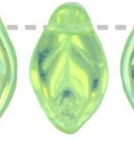 25 PC 7x12mm Leaf : Peridot AB