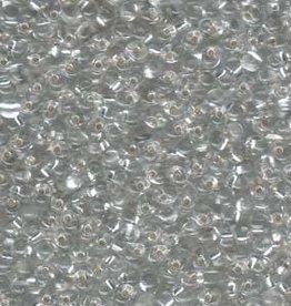 10 GM 3.4mm Miyuki Drop : Transparent Silver Lined Clear (APX 200 PCS)
