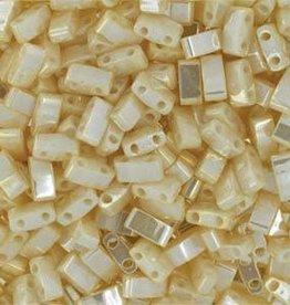 10 GM 5mm Tila 1/2 Cut : Antique Ivory Pearl Ceylon (APX 250 PCS)