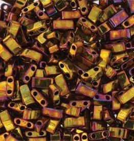 10 GM 5mm Tila 1/2 Cut : Metallic Gold Iris (APX 250 PCS)
