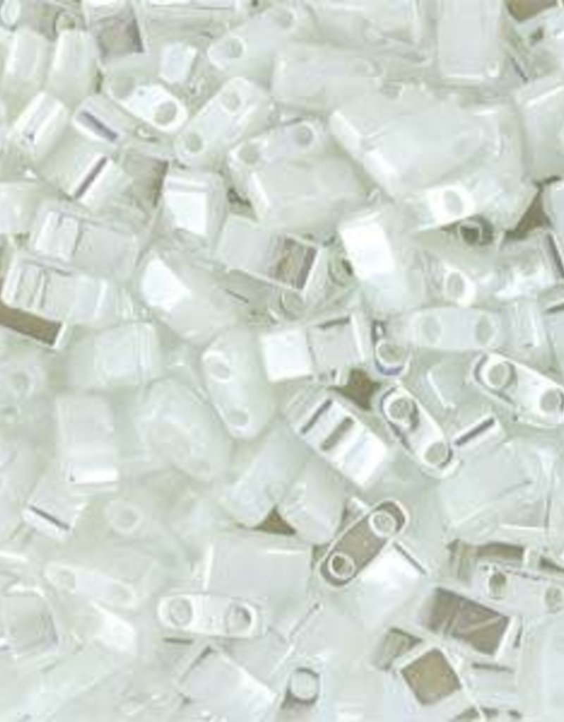 10 GM 5mm Tila 1/2 Cut : White Pearl (APX 250 PCS)