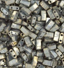 10 GM 5mm Tila 1/2 Cut : Galvanized Grey Luster (APX 250 PCS)