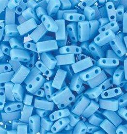 10 GM 5mm Tila 1/2 Cut : Matte Opaque Turquoise Blue (APX 250 PCS)