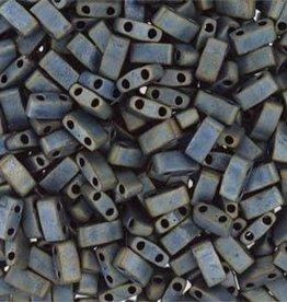 10 GM 5mm Tila 1/2 Cut : Matte Metallic Silver Grey (APX 250 PCS)