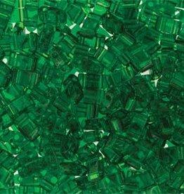 10 GM 5mm Tila 1/2 Cut : Transparent Green (APX 250 PCS)