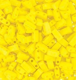10 GM 5mm Tila 1/2 Cut : Matte Opaque Yellow (APX 250 PCS)
