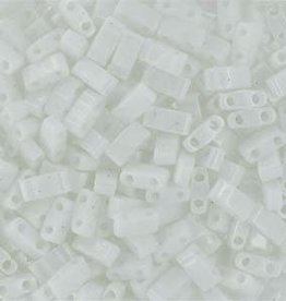 10 GM 5mm Tila 1/2 Cut : Opaque White (APX 250 PCS)