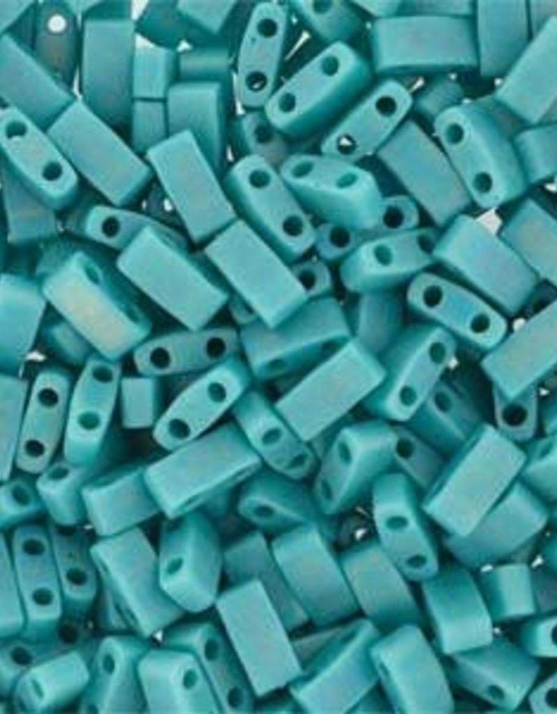 10 GM 5mm Tila 1/2 Cut : Matte Opaque Turquoise (APX 250 PCS)