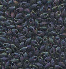 10 GM 4x7mm Long Magatama : Matte Purple Iris (APX 80 PCS)