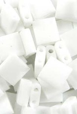 10 GM 5mm Tila Bead : Opaque White (APX 110 PCS)