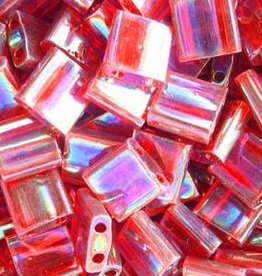 10 GM 5mm Tila Bead : Transparent Red AB (APX 110 PCS)