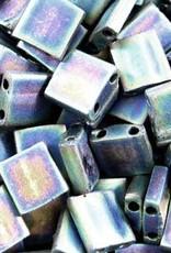 10 GM 5mm Tila Bead : Matte Black AB (APX 110 PCS)