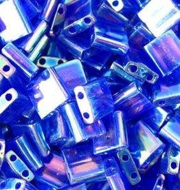 10 GM 5mm Tila Bead : Tansparent Cobalt AB (APX 110 PCS)