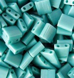 10 GM 5mm Tila Bead : Matte Opaque Turquoise AB (APX 110 PCS)