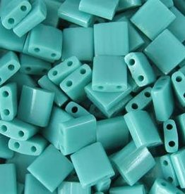 10 GM 5mm Tila Bead : Opaque Turquoise Green (APX 110 PCS)