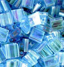 10 GM 5mm Tila Bead : Transparent Aqua AB (APX 110 PCS)