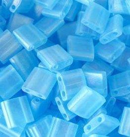 10 GM 5mm Tila Bead : Matte Transparent Light Blue AB (APX 110 PCS)