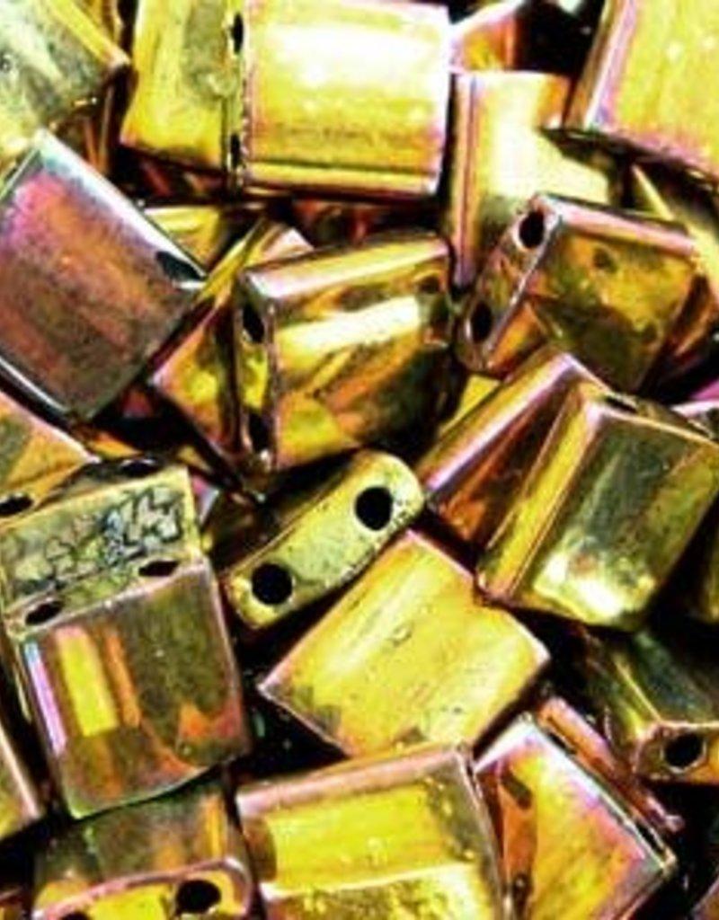 10 GM 5mm Tila Bead : Metallic Gold Iris (APX 110 PCS)