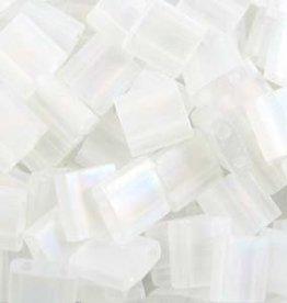 10 GM 5mm Tila Bead : Matte Transparent Crystal AB (APX 110 PCS)