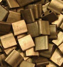 10 GM 5mm Tila Bead : Matte Metallic Gold (APX 110 PCS)
