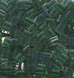 10 GM 5mm Tila Bead : Transparent Green Luster (APX 110 PCS)