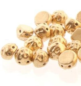 10 GM 7mm 2 Hole Baroque Cab : Pale Gold (APX 25 PCS)