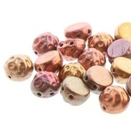 10 GM 7mm 2 Hole Baroque Cab : Gold Rainbow (APX 25 PCS)