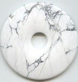1 PC 40mm White Howlite Donut