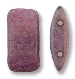15 PC 9x17mm 2 Hole Carrier Bead : Lilac Luster