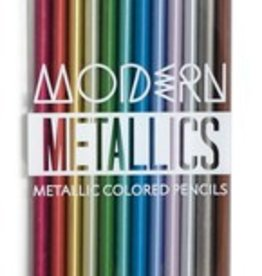 Modern Metallics Colored Pencils- Set of 12