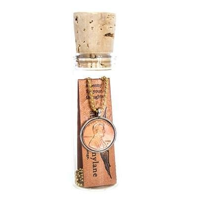 Studio Pennylane A Penny For Your Thoughts Necklace in a Bottle