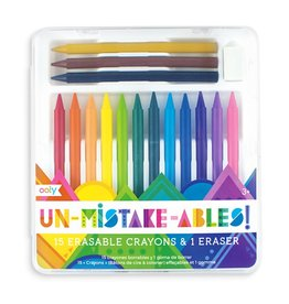 Un-Mistakeables! 15 Erasable Crayons & Eraser